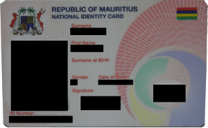 National Identity Card for Mauritius